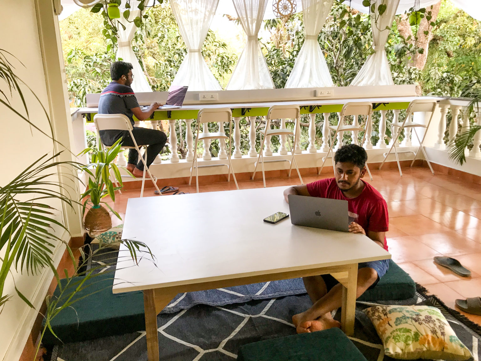Open Air Co-working space nomadgao